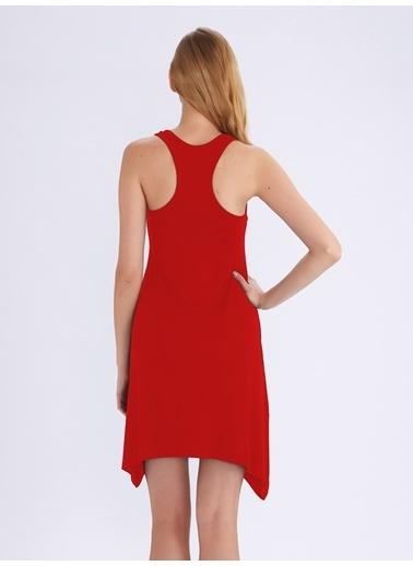 Ayyıldız Ev Elbisesi Kırmızı